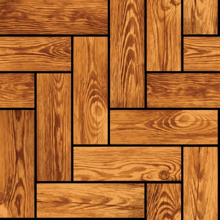 Naturalistic seamless texture of wooden parquet Vector