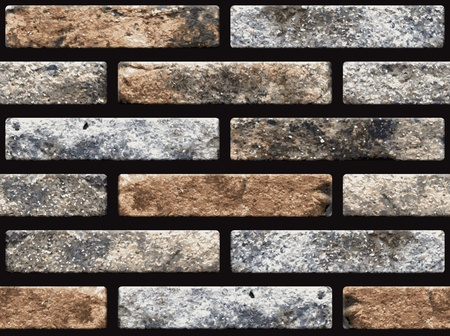 naturalistic: Naturalistic seamless texture of old brickwork