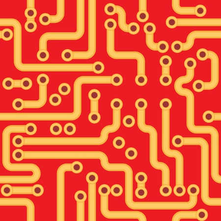 Square seamless texture - the electronic circuit board Vector