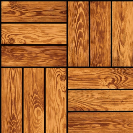 Seamless realistic texture - wooden parquet Vector