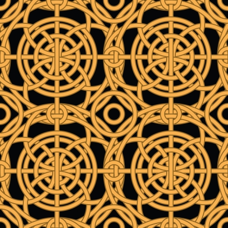 Ethnic golden interlaced pattern