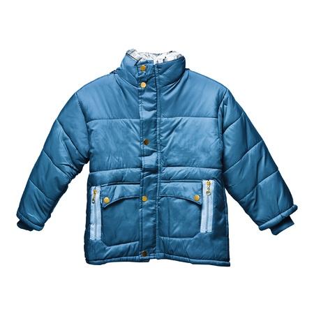 Childrens parka jacket isolated on white background Stock Photo
