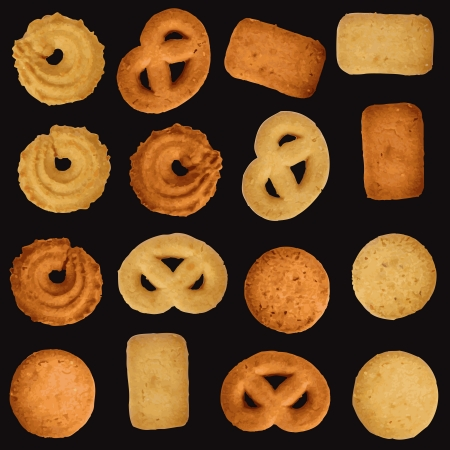 The traditional Danish cookies  Vector