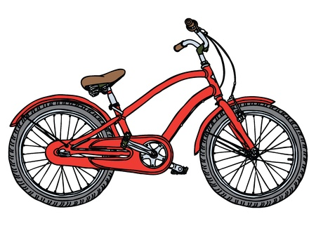 one wheel bike: Old Red Bicycle