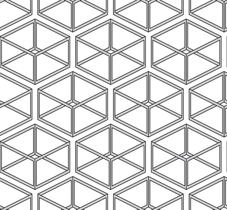 seamless texture - geometric shapes on white Vector