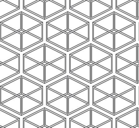 modular: seamless texture - geometric shapes on white Illustration
