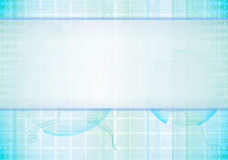 Blue abstract high-tech background  Vector