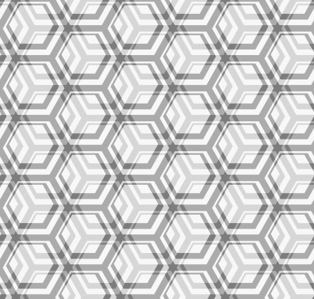 Seamless vector texture - the intersection of gray hexagons Vector