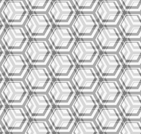 Seamless vector texture - the intersection of gray hexagons Vector