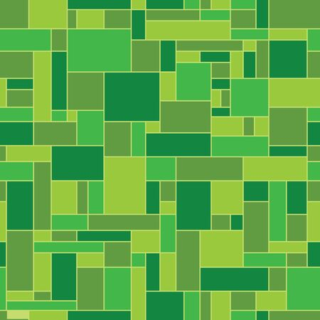 Green abstract geometric pattern - floor cover Vector