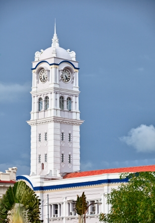 A large clock tower. Malaysia, Georgetown photo
