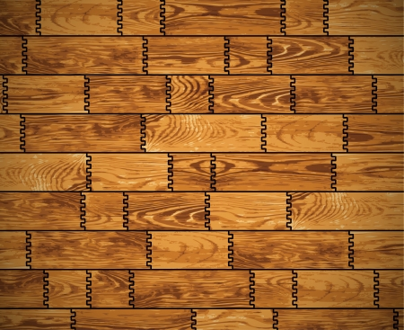 The wall, covered with wooden planks - background Vector