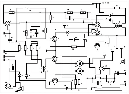 schematic: Electric scheme - fantasy technology background