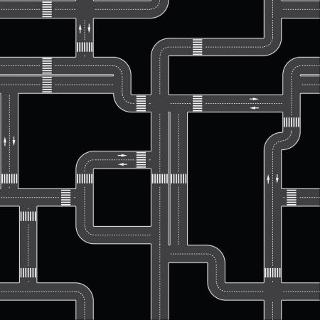 two roads: Seamless texture - the urban asphalt roads. fully editable