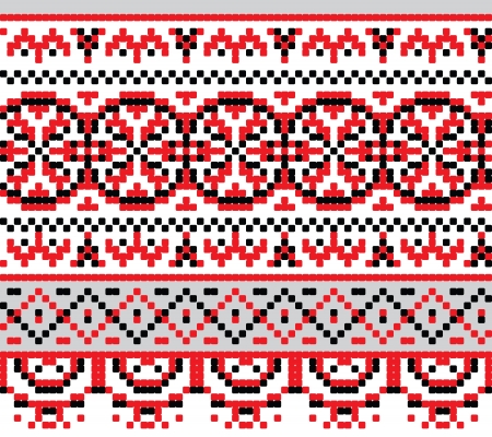 Ukrainian national pattern for cross stitch - background Vector