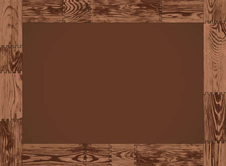 The horizontal frame - dark wood design Vector