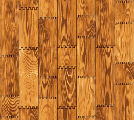Seamless texture - a wall lined with decorative wooden boards Vector