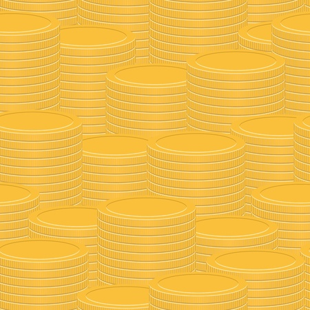Stacks of coins - abstract seamless texture Vector