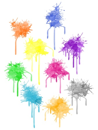 paint splat: paint splat - set different colors for the design