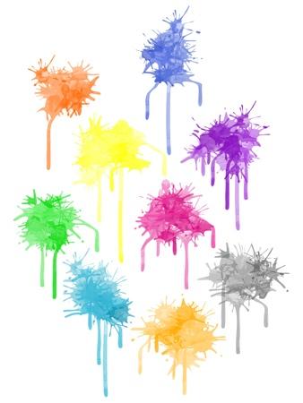 paint splat - set different colors for the design