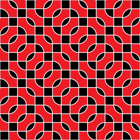 Seamless geometric pattern - red and black Vector