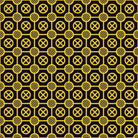 Vector seamless texture - yellow elements on a black background Stock Vector - 14299221