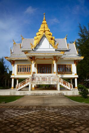 exotics: A small Buddhist temple. Surin Beach, Phuket, Thailand