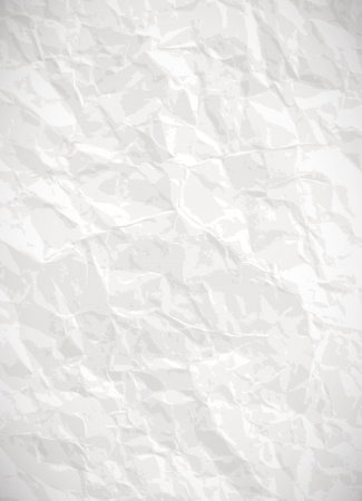 Paper background - vector white crumpled texture Vector