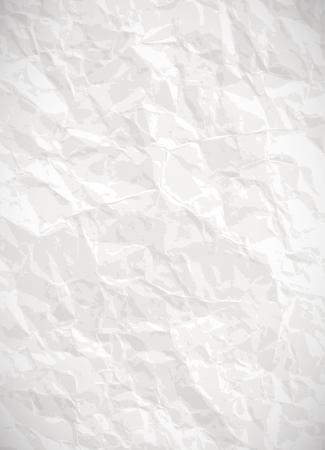 Paper background - vector weißen zerknitterten Textur