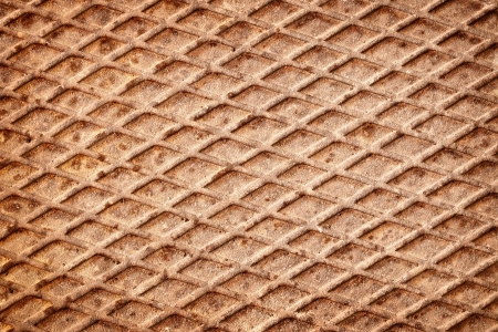 The surface of rusty metal deck - the background Stock Photo - 14571863
