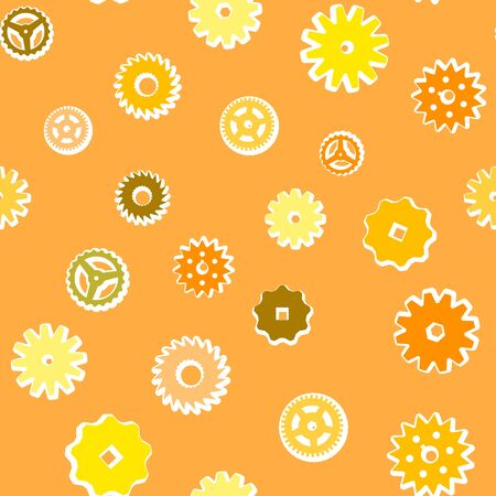 Vintage vector seamless background from the gears Vector