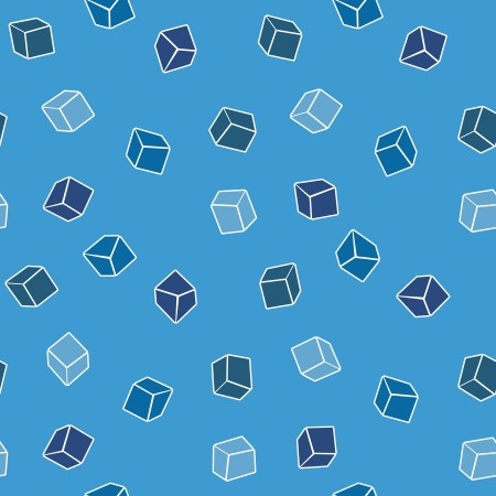 Abstract simple vector background - cubes in blue Vector