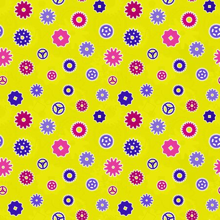chaotical: Seamless vector texture - colorful gears