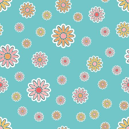 An old-fashioned floral seamless vector pattern Vector