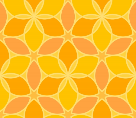 Seamless vector geometric yellow pattern Stock Vector - 14571749