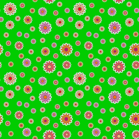 chaotical: background - different flowers on a green meadow
