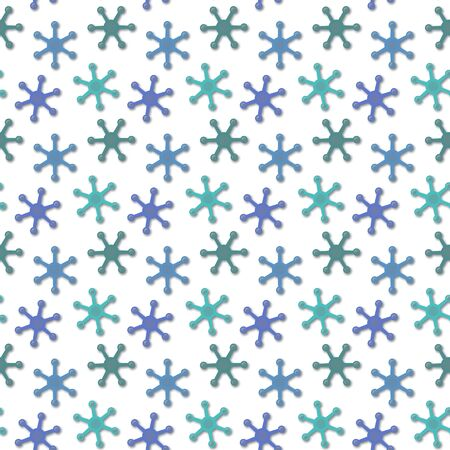 chaotical: Abstract seamless texture - blue fantastic elements