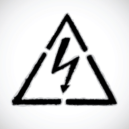 danger warning sign - high voltage Vector