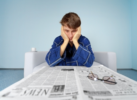 emotionality: Bad news from the newspaper - hard find a job