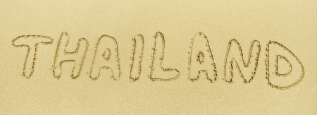 exotics: The inscription on the beach sand - Thailand