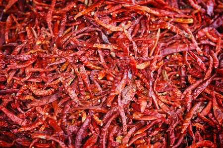 Eastern spice - hot red pepper background photo