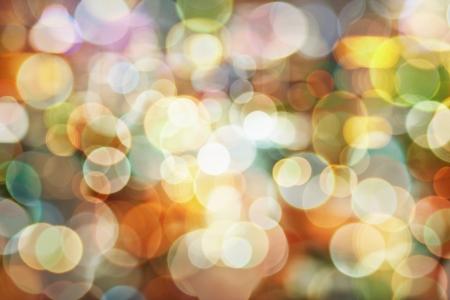 Światła: Piękne naturalne bokeh - tło z niewyraźne światła