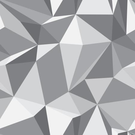 Diamantvorm naadloze patroon - abstracte geometrische veelhoek mozaïek textuur Vector Illustratie