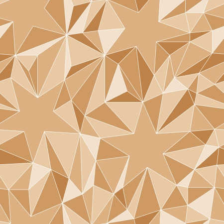 Stars and triangles - the seamless simple  pattern Vector