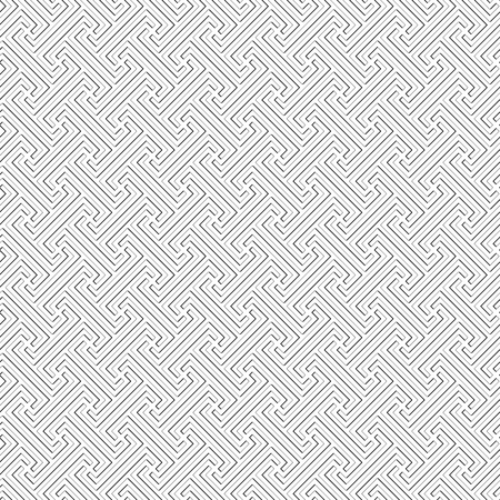 Bali tribal pattern - vector seamless monochrome square texture