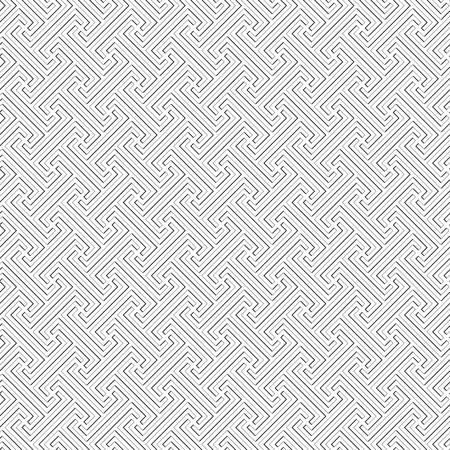 Bali tribal pattern - vector seamless monochrome square texture