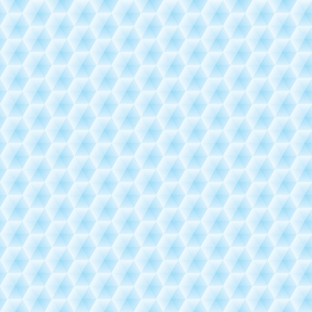 Abstract seamless vector texture of blue three-dimensional hexagons Vector