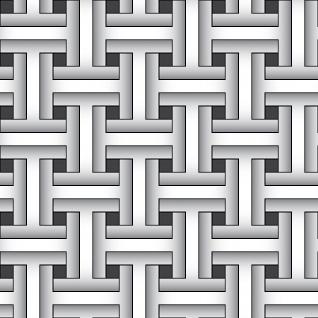 Weaving monochrome abstract graphic pattern - vector background Stock Vector - 15868701