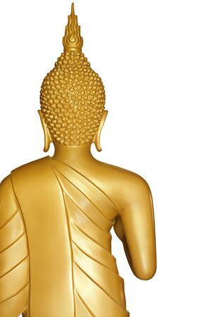 Buddha golden statue isolated on white background Stock Photo - 16786885