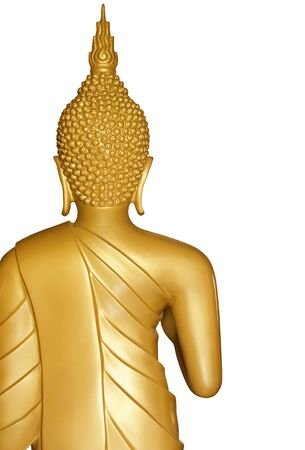 Buddha golden statue isolated on white background Stock Photo - 16786885